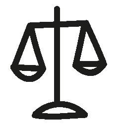 バランス スケール手描き下ろしシンボル無料アイコン