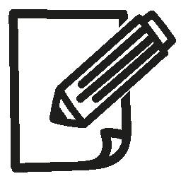 編集メモ手描き下ろしインタ フェース シンボル無料アイコン