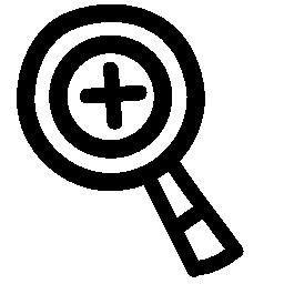 拡大ズーム手描き下ろしシンボル無料アイコン