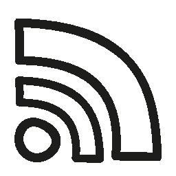 Rss フィードの手描き下ろしシンボル無料アイコン