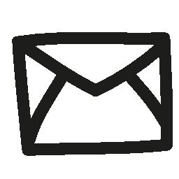 メールの封筒は戻って手描画概要無料アイコン