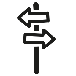 方向矢印信号手の左と右の反対の方向の無料アイコンを指している描画のシンボル