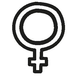 女性手描き下ろしシンボル概要無料アイコン
