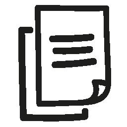 ページ手描き下ろしインタ フェース シンボル無料アイコン
