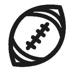 アメリカン フットボール ボール手描き下ろし概要無料アイコン
