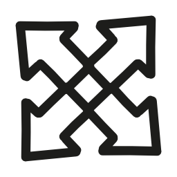手描き下ろしインターフェイス矢印シンボル概要無料アイコンを展開します。