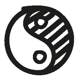 陰陽手描き下ろしシンボル無料アイコン