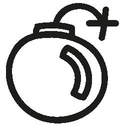 爆弾手描き下ろしインタ フェース シンボル概要無料アイコン