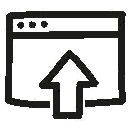 ファイル手描き下ろしインタ フェース シンボル無料アイコンをアップロードします。