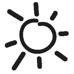 太陽手描き下ろし日シンボル無料アイコン