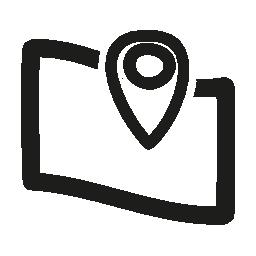 地図の場所手描き下ろしインタ フェース シンボル無料アイコン