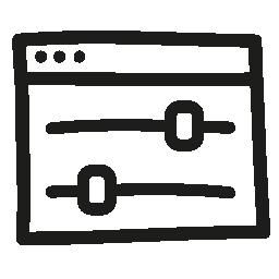 設定コンソール手描き下ろしシンボル無料アイコン