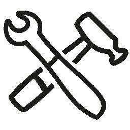 描かれたアウトライン構成インタ フェース シンボル無料アイコンの手のツール
