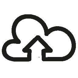 雲無料アイコンの上向きの矢印の手描画インタ フェース シンボルをアップロードします。