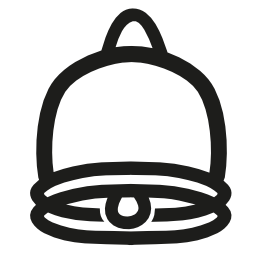 ベルの手描き下ろしインタ フェース シンボル無料アイコン