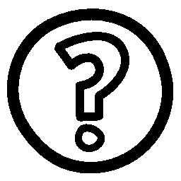 疑問符概要円で手描き下ろしボタン無料アイコン