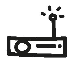 ラジオ平らな手描画アンテナ無料アイコンとツール