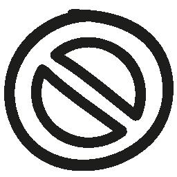 禁止手描き下ろしシンボル概要無料アイコン