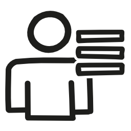 ユーザー リスト手書きインタ フェース シンボル概要無料アイコン
