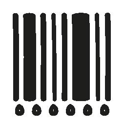 手描きの線と数字無料のアイコンを codebar します。