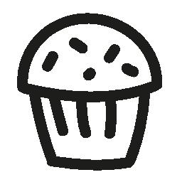 カップケーキ手描き下ろしデザート無料アイコン