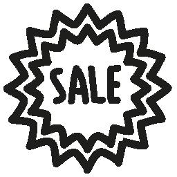 販売タグ手無料のアイコンを描画する商業的要素