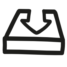 それに降順の矢印が付いている皿の手インターフェイスを描画シンボル無料のアイコンをダウンロードします。