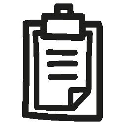 クリップボード手描き下ろしインタ フェース シンボル無料アイコン