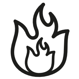火災手描き下ろし炎概要無料アイコン