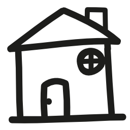 家手描き下ろし概要無料アイコン