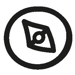 コンパス手描き下ろし円形ツール概要無料アイコン