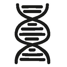 DNA の手描き下ろしシンボル無料アイコン