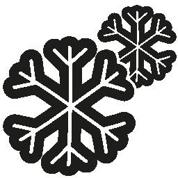 雪片カップル手描かれたアウトライン無料アイコン