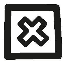 十字正方形ボタン概要無料アイコンで描画手をキャンセルします。