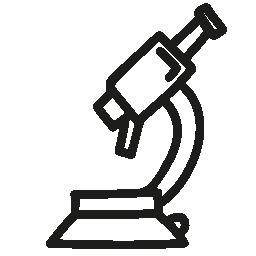顕微鏡の手描きツール概要無料アイコン