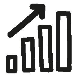バー グラフィックを手描き下ろしシンボル無料アイコン