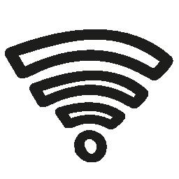 Wifi 手描き下ろしシンボル無料アイコン