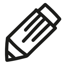 鉛筆手描画ツール概要無料アイコン