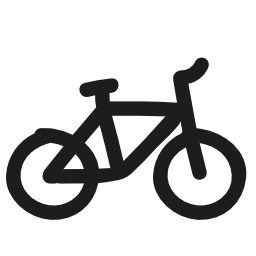 自転車手描き下ろしトランスポート無料アイコン