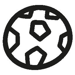 サッカー ボール手描き下ろし概要無料アイコン