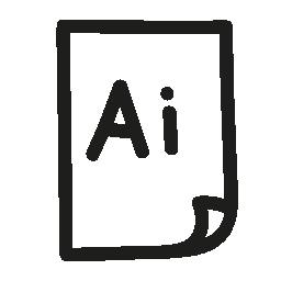 Illustrator ファイル手描きインタ フェース シンボル無料アイコン