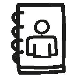 ユーザー帳手描き下ろしシンボル無料アイコン