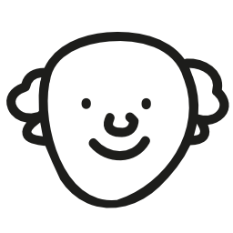 歳の男性手描き顔無料アイコン