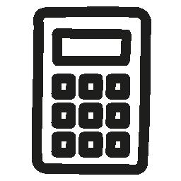 電卓の手描画ツール無料アイコン