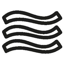 メニュー曲線行バリアント手描かれたアウトライン無料アイコン