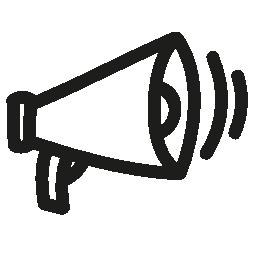 メガホン手描画ツール概要無料アイコン