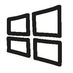 Windows 手描き下ろしロゴ概要無料アイコン