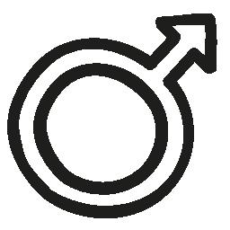 男性手描き下ろしシンボル概要無料アイコン
