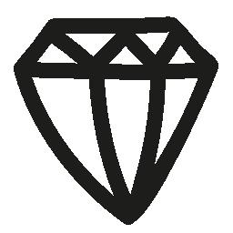 ダイヤモンド手描き下ろし概要側ビュー無料アイコン