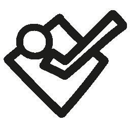 フォースクエア手描き下ろしロゴ概要無料アイコン